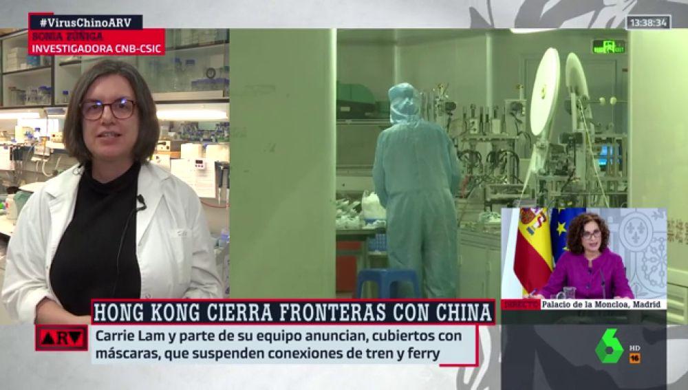 """Sonia Zúñiga (CSIC), sobre el coronavirus: """"De momento no está cambiando de una manera alarmante"""""""