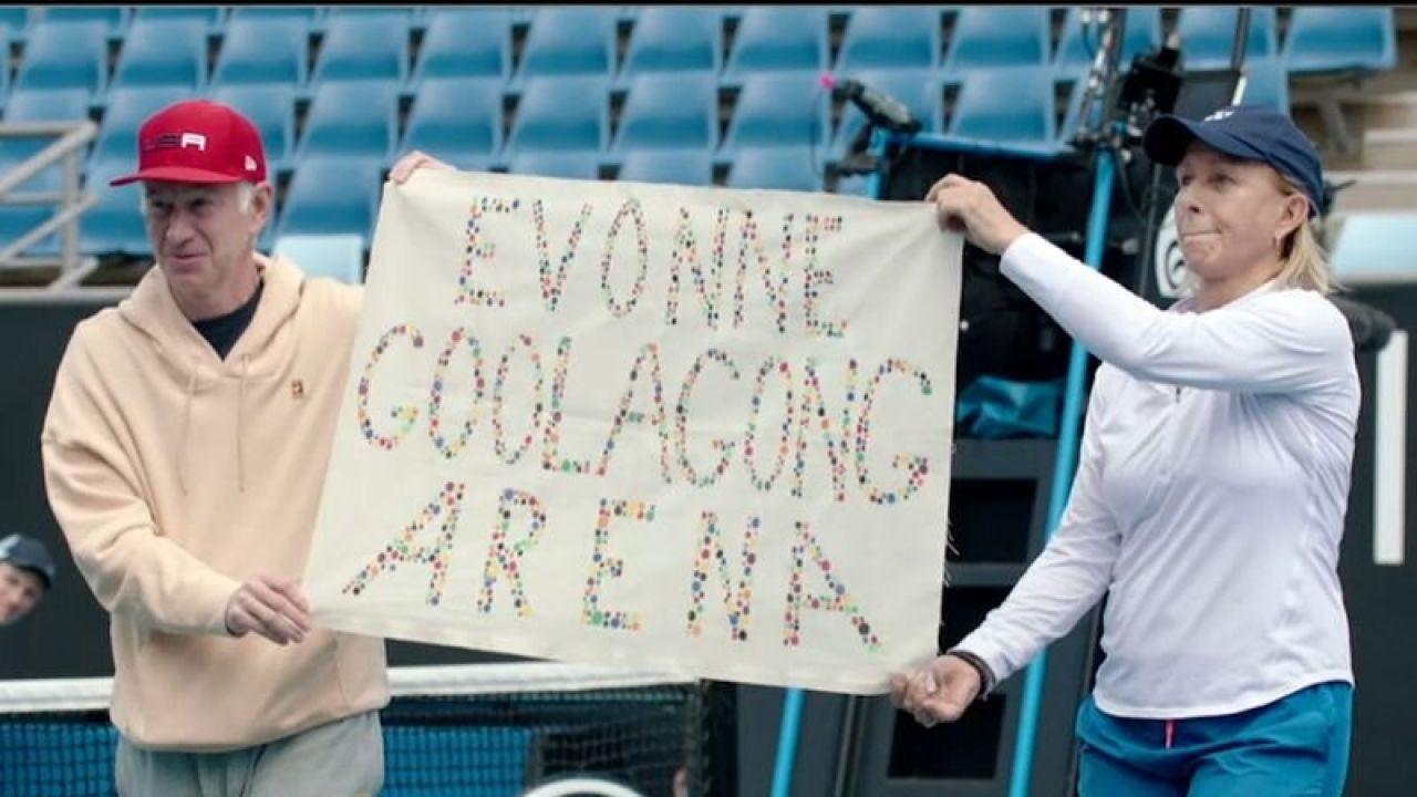 McEnroe y Navratilova durante el Open de Australia