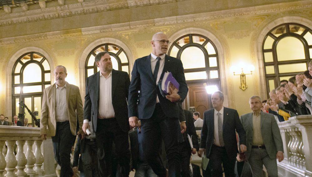 Junqueras y Romeva en el Parlament