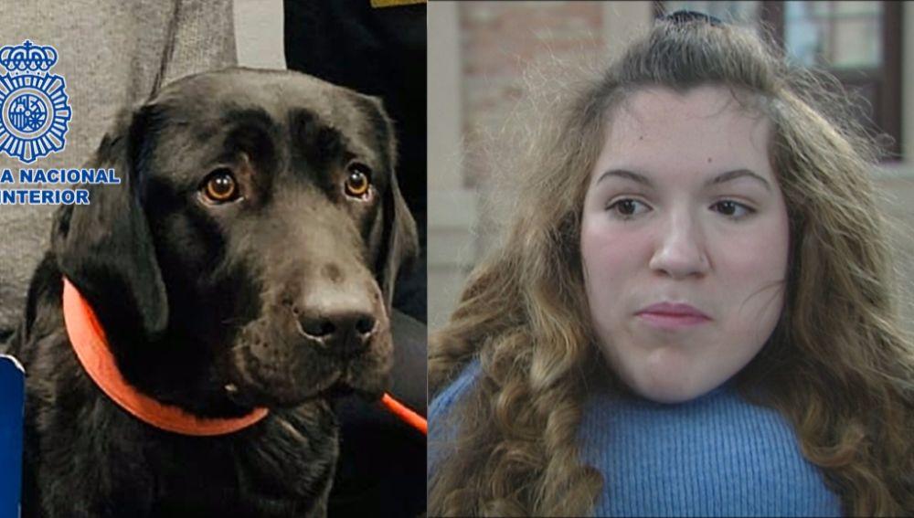 La perra Pocahontas y su dueña Clara
