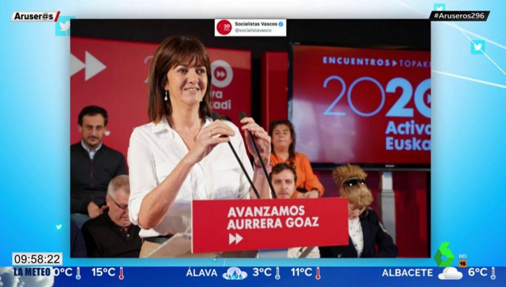 """El detalle en una foto del PSOE vasco que ha revolucionado Twitter: tendrás que """"mirar dos veces"""""""