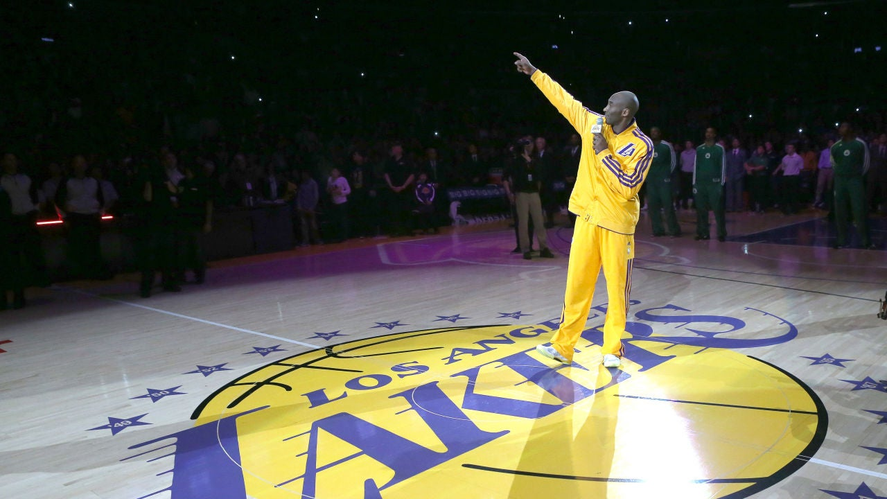 Kobe Bryant, en la cancha de Los Ángeles Lakers, el Staples Center