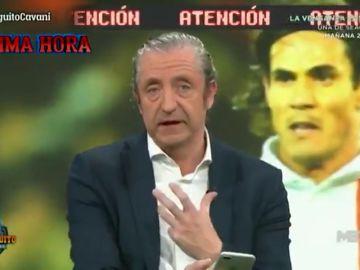 Josep Pedrerol recibe un mensaje del entorno de Cavani en directo en El Chiringuito