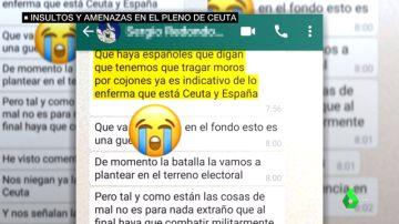 El chat racista de Vox que desencadenó la bronca en la Asamblea de Ceuta