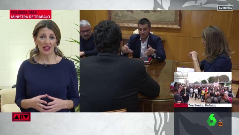 """Yolanda Díaz: """"Hay que acabar con el fraude de los falsos autónomos"""""""