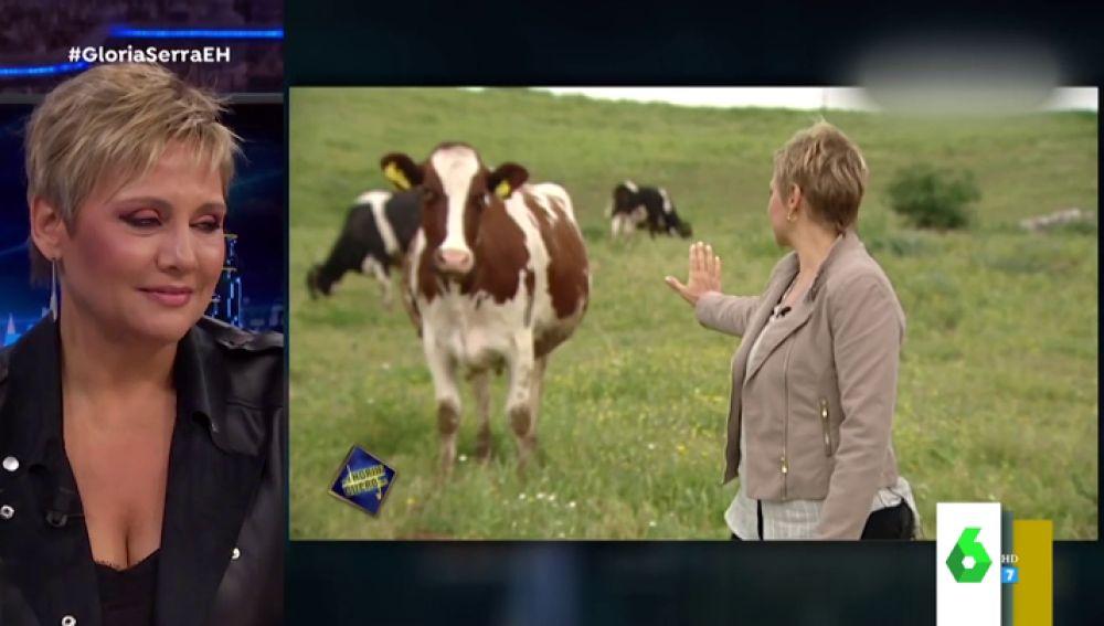 El vídeo viral de Gloria Serra frenando a una vaca: esto es lo que hubo detrás del divertido momento