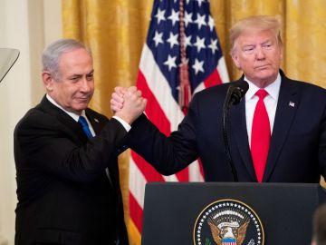 Trump junto a Netanyahu