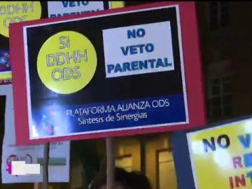 Manifestación en Murcia contra el veto parental que exige Vox