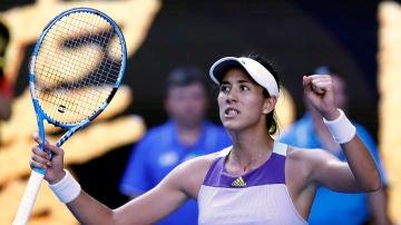 Garbiñe Murugurza celebra su pase a la final del Open de Australia