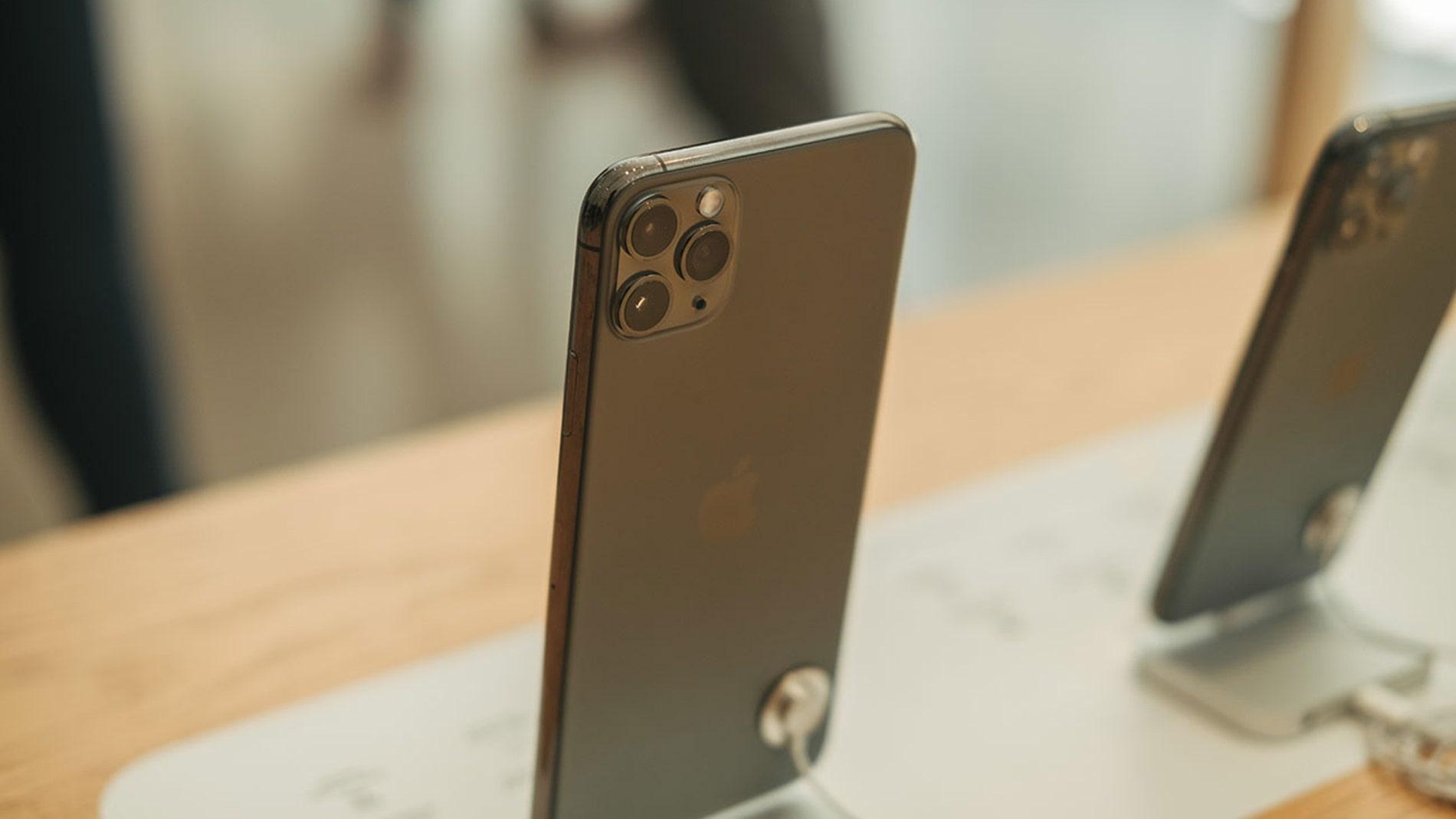 iPhone en un Apple Store