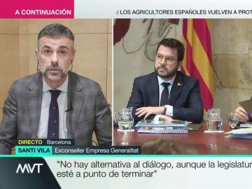 """Santi Vila: """"La primera decisión que me gusta de Torra desde que es presidente es la convocatoria de elecciones"""""""