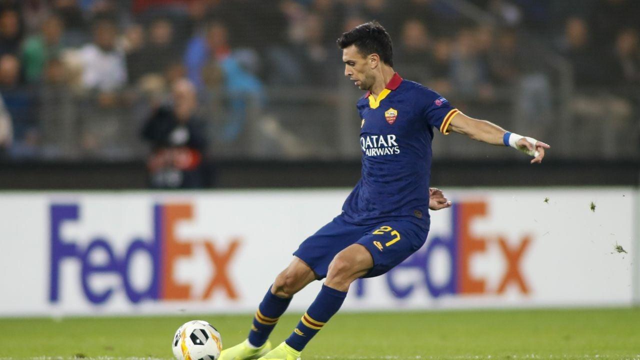 Javier Pastore, en un partido con la Roma.