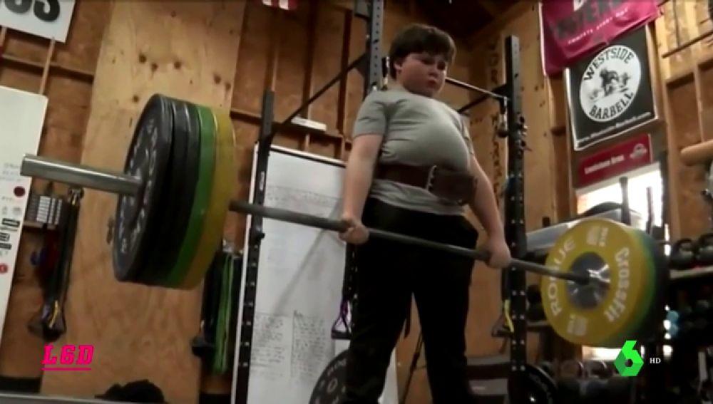 Tate Fegley, el niño más fuerte del mundo: levanta 104 kilos a sus nueve años