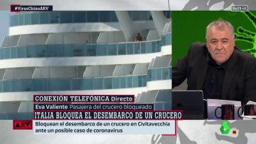 """Habla una pasajera del crucero bloqueado por un caso sospechoso de coronavirus: """"No bajamos del barco desde el martes"""""""