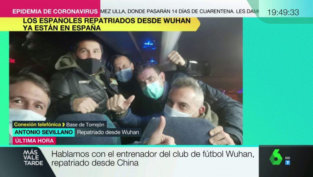 Españoles repatriados desde Wuhan