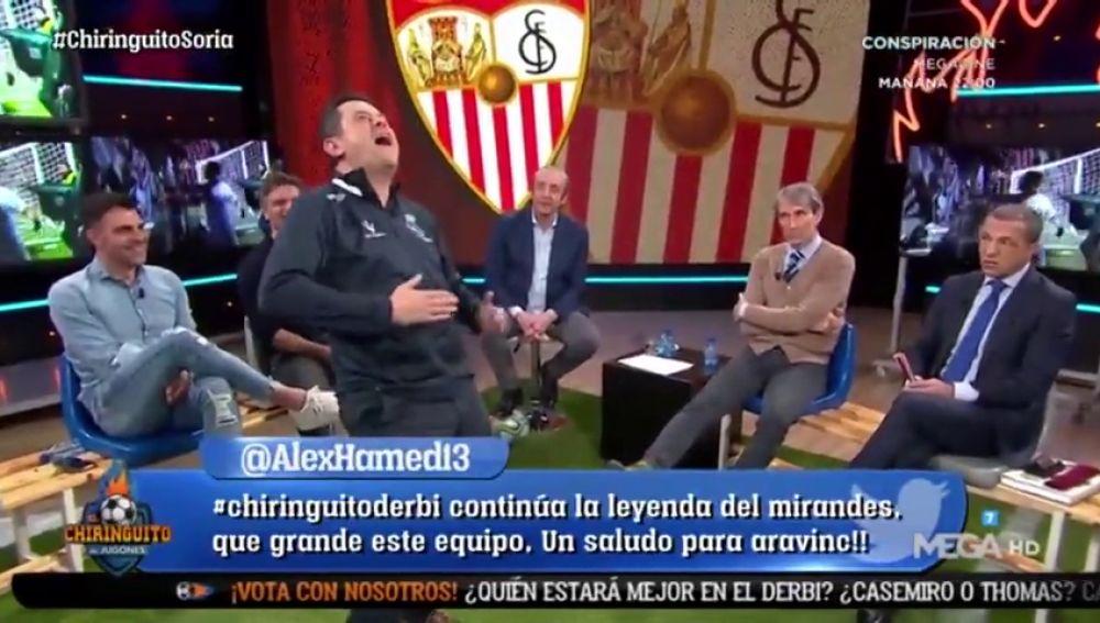 """Tomás Roncero se mofa de Cristóbal Soria en El Chiringuito: """"Vinicius está partiéndose de risa en casa"""""""