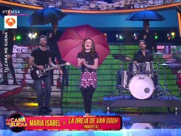 Así fue la espectacular actuación de María Isabel imitando a La Oreja de Van Gogh al ritmo de 'Inmortal'
