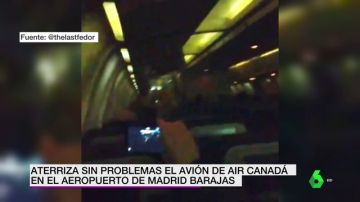 El pasaje aplaude al aterrizar el avión en Barajas