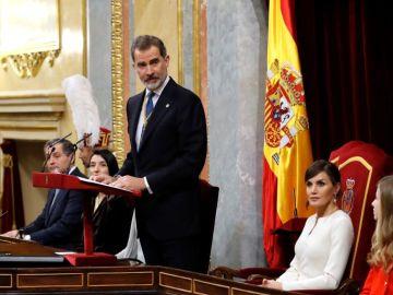 """laSexta Noticias 14:00 (03-02-20) El rey Felipe VI, en la apertura solemne de la legislatura: """"España no puede ser de unos contra otros, debe ser de todos y para todos"""""""