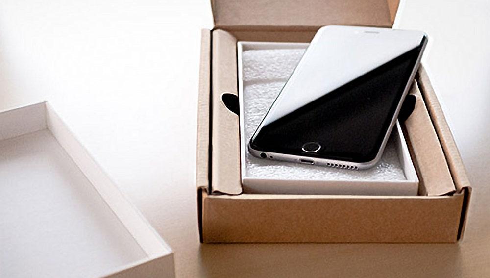 Reparación oficial de un iPhone.