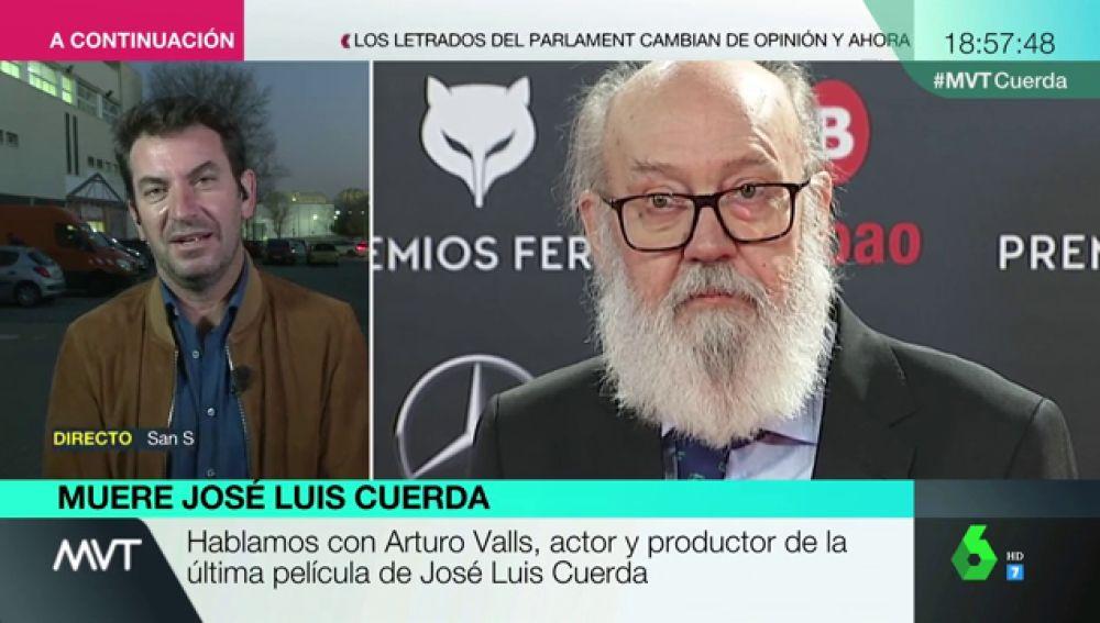 """El emotivo elogio de Arturo Valls a José Luis Cuerda: """"Es muy necesaria gente como él"""""""