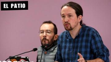 Pablo Iglesias junto a Pablo Echenique