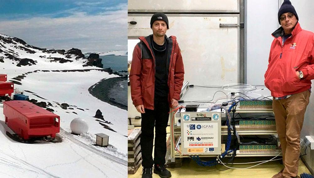 Nuevo detector de rayos cosmicos en la Antartida