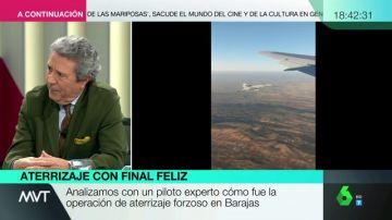 """El excomandante Palenzuela valora la actuación del piloto de Air Canada: """"Optó por una decisión y acertó"""""""