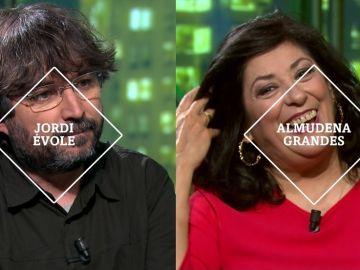Jordi Évole y Almudena Grandes, en laSexta Noche