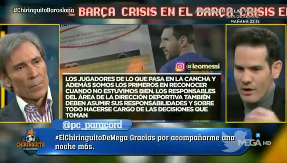 """Quim Domènech desvela el día que Messi puso """"la cruz"""" a Bartomeu"""