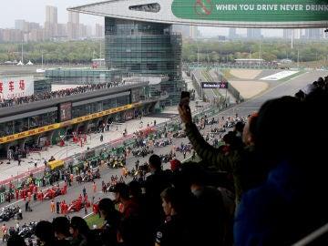 La parrilla de salida del GP de China 2019