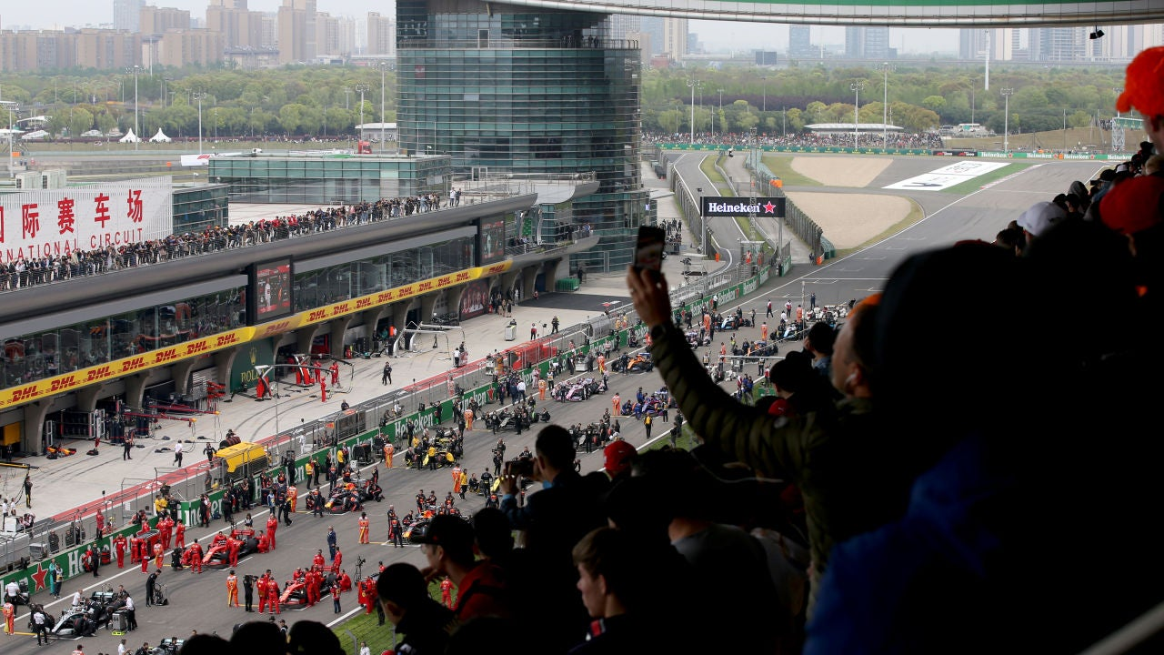 La parrilla de salida del GP de China 2019