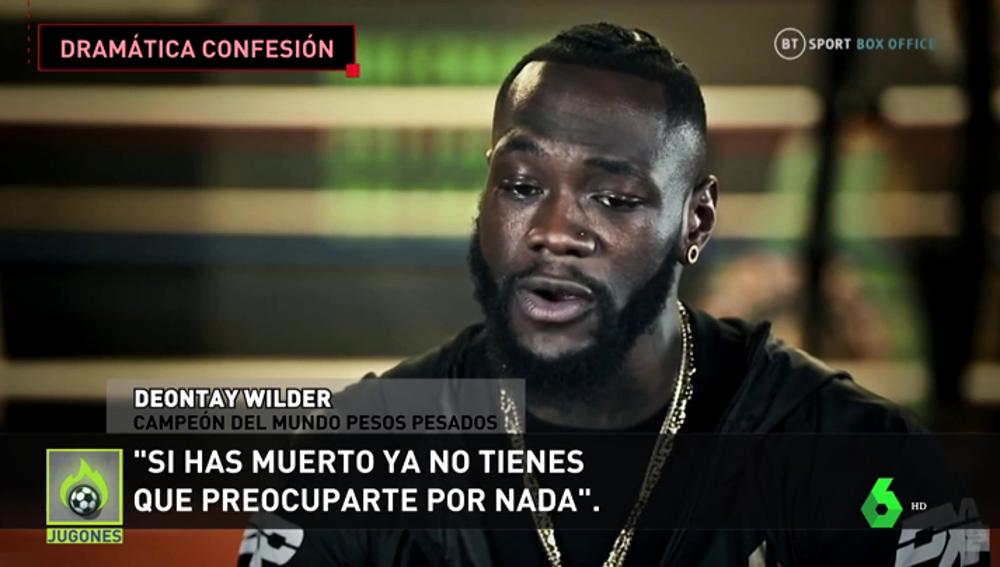 """""""Tuve una pistola en mi regazo para suicidarme"""": la dura confesión del boxeador Deontay Wilder"""