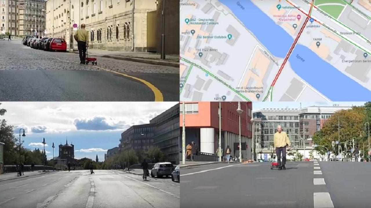 Un artista alemán 'hackea' Google Maps con una carretilla llena de teléfonos móviles