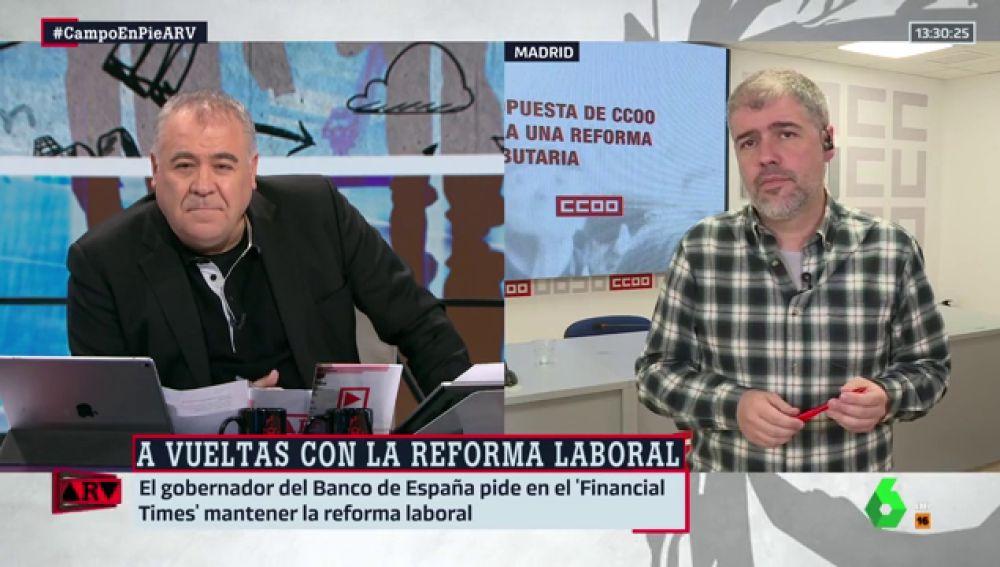 """Unai Sordo responde al gobernador del Banco de España sobre la reforma laboral: """"Puede opinar lo que desee"""""""