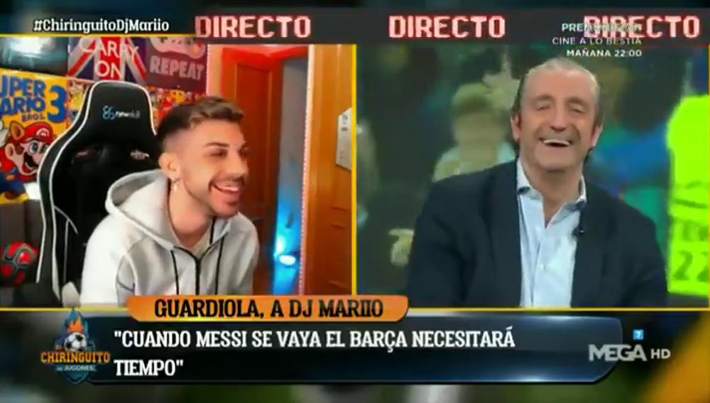 El zasca de Josep Pedrerol a DjMaRiiO por su entrevista a Pep Guardiola