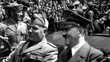 Adolf Hitler y Benito Mussolini, 1940