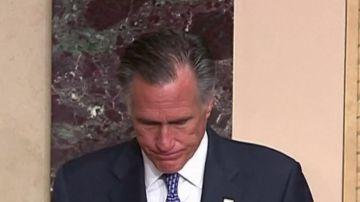 """Mitt Romney, el único senador republicano que votó contra Trump: """"Hice un juramento de ejercer una justicia imparcial"""""""