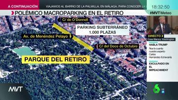 Así es el parking que quiere construir Martínez Almeida frente al Retiro: 1.000 plazas junto al pulmón verde de Madrid