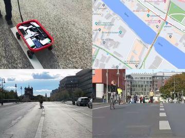 El artista Simon Weckert recorrió las calles de Berlín con 99 móviles