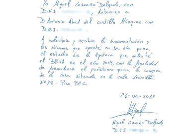 Carta de Miguel Carcaño al padre de Marta del Castillo