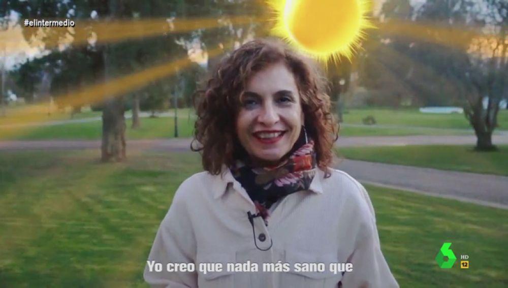 """El divertido 'hit' de María Jesús Montero tras """"pasárselo chupi"""" en su escapada con el Gobierno: """"Salir, sumar y multiplicar"""""""