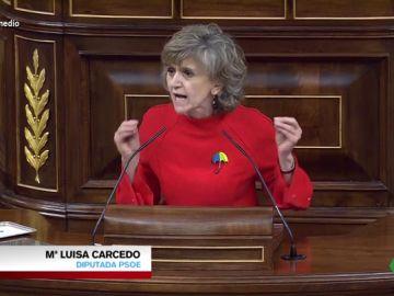 Así ha sido el emocionante (y aplaudido) discurso de Carcedo sobre la ley de la eutanasia con dardos a la derecha