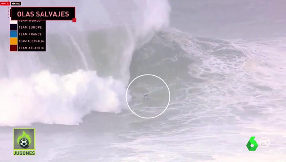 Las olas gigantes de Nazaré amenazan con batir todos los récords