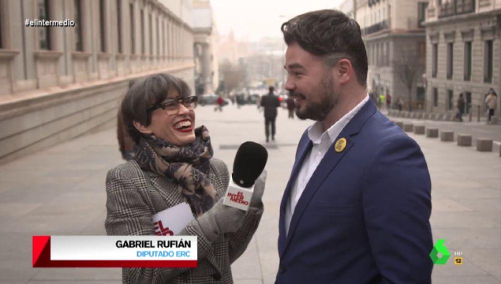 """La 'picante' confesión de Rufián sobre las miradas entre PSOE y Unidas Podemos: """"Veo más sexo que amor"""""""
