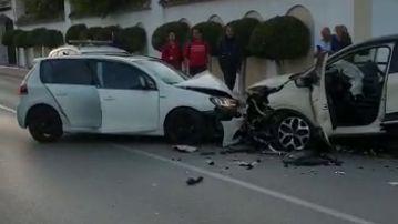 Choque frontal en Marbella
