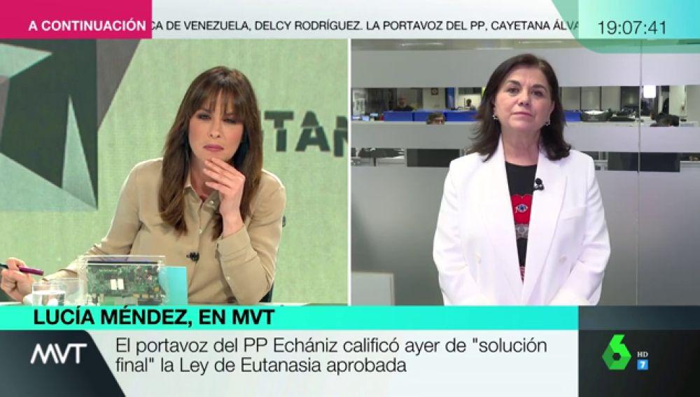 """Lucía Méndez: """"no voy a entablar diálogo político con una persona que habla como un sacerdote en la misa"""""""