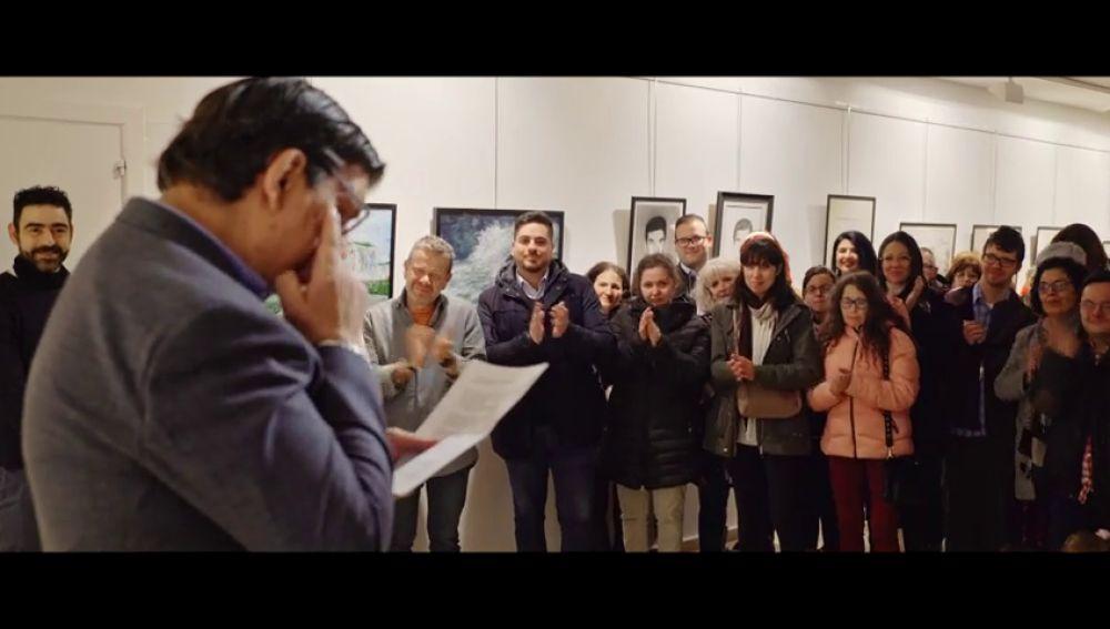"""El emotivo discurso de Juan Antonio en su exposición: """"Siempre me he sentido juzgado por una sociedad que no entiende que las personas con discapacidad podemos alcanzar nuestros sueños"""""""
