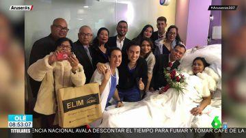 Una novia se pone de parto minutos antes de su boda y termina casándose en el hospital