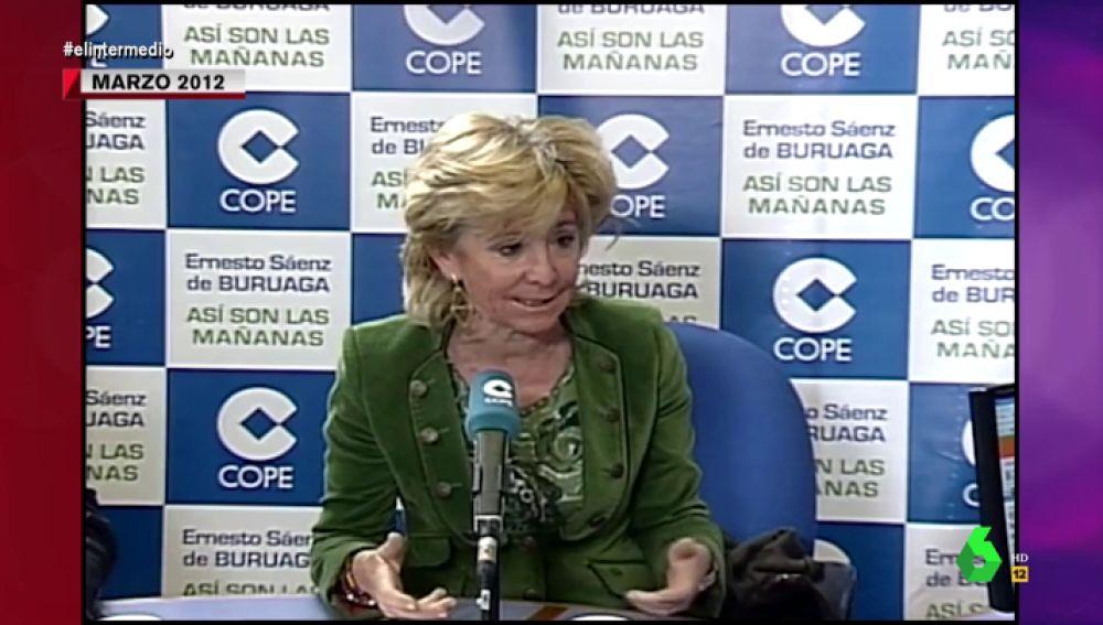"""Cuando Esperanza Aguirre criticaba el aborto de la forma más machista posible: """"No es un derecho sino un fracaso inmenso de la mujer"""""""